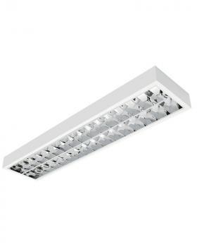 LED Rasterleuchte 120cm 2-fl. BAP vorverdrahtet für LED Röhren