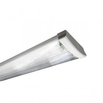 SIMPO Deckenleuchte LED 120cm 2-fl. geriffelt vorverdrahtet für LED Röhren