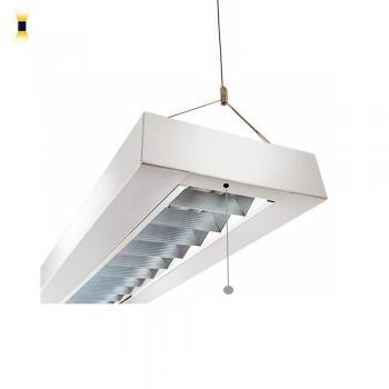 Uniqa elegante Pendelleuchte 120cm 3-fl. BAP Up/Down vorverdrahtet für LED Röhren
